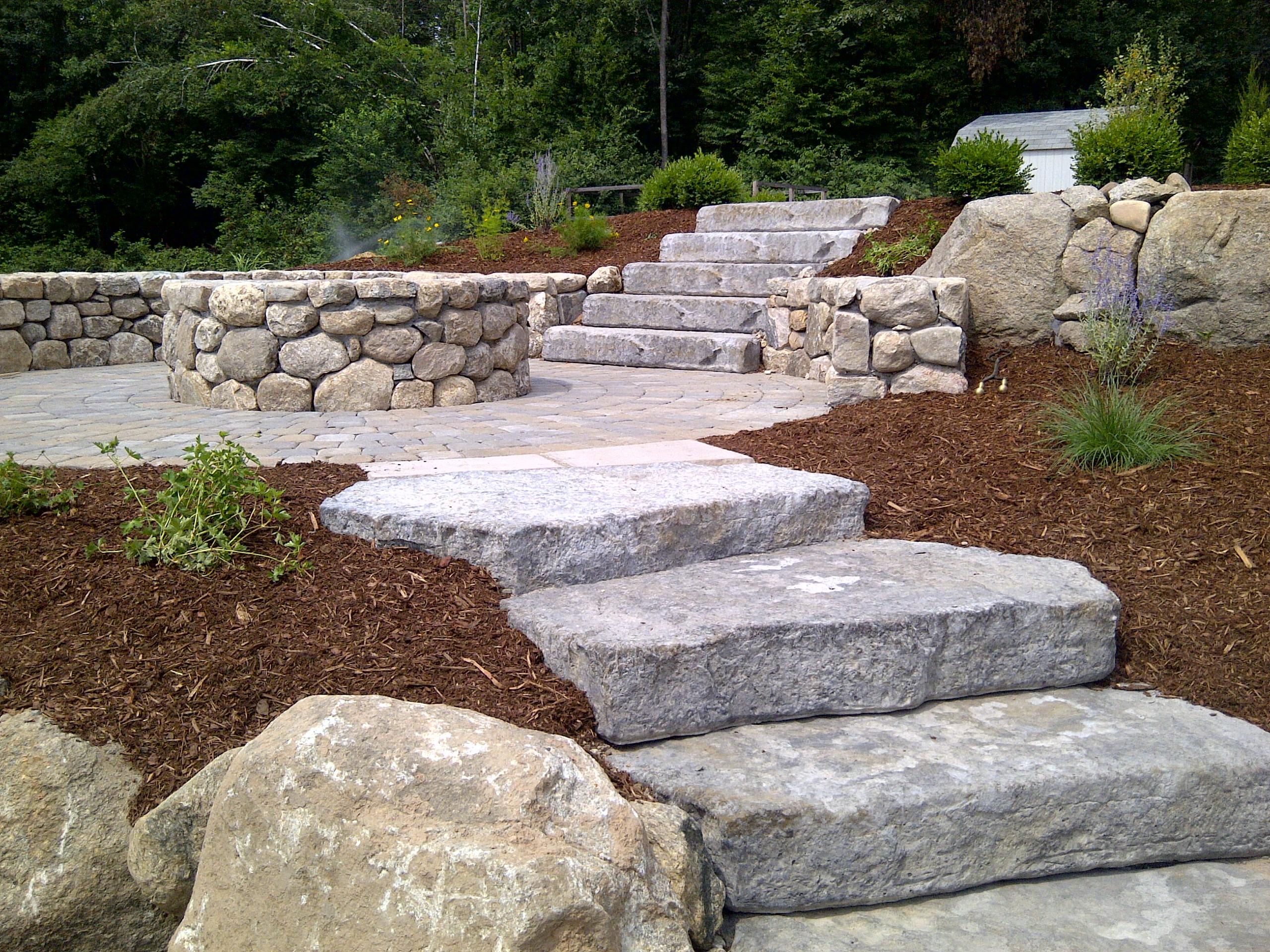Steps refacing veneers front stoop portfolio torrison stone garden - Scale in giardino ...